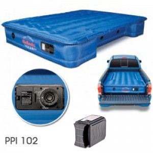 "AirBedz Original Truck Bed Air Mattress PPI 102 Fullsize 6'-6.5' Short Bed (76""x63.5""x12"") With Built-in Rechargeable Battery Air Pump"