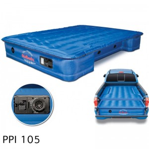 """AirBedz Original Truck Bed Air Mattress PPI 105 Midsize 5'-5.5' Short Bed (60""""x55""""x10"""") With Built-in Rechargeable Battery Air Pump. Includes Tailgate Extension Mattress (20""""x52""""x10"""")"""