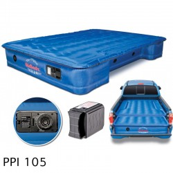 "AirBedz Original Truck Bed Air Mattress PPI 105 Midsize 5'-5.5' Short Bed (60""x55""x10"") With Built-in Rechargeable Battery Air Pump. Includes Tailgate Extension Mattress (20""x52""x10"")"