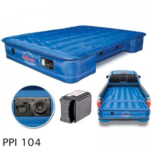 "AirBedz Original Truck Bed Air Mattress PPI 104 Fullsize 5.5'-5.8' Short Bed (67""x63.5""x12"") With Built-in Rechargeable Battery Air Pump  Includes Tailgate Extension Mattress (21 X 57 X 12)"