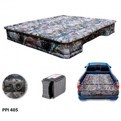 "AirBedz Original Truck Bed Air Mattress PPI 405 Midsize 5'-5.5' Short Bed (60""x55""x10"") With Built-in Rechargeable Battery Air Pump. Includes Tailgate Extension Mattress (20""x52""x10"")"