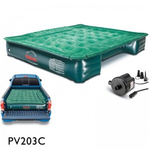"AirBedz Lite (PPI PV203C) Mid-Size 6'-6.5' Short Truck Bed Air Mattress (72""x55""x12"") With Portable DC Pump"