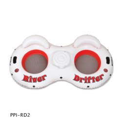 River Drifter Two Person Float Tube With Cooler